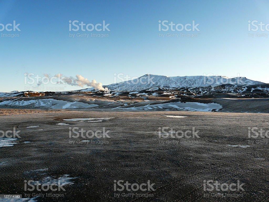 Krafla volcano stock photo