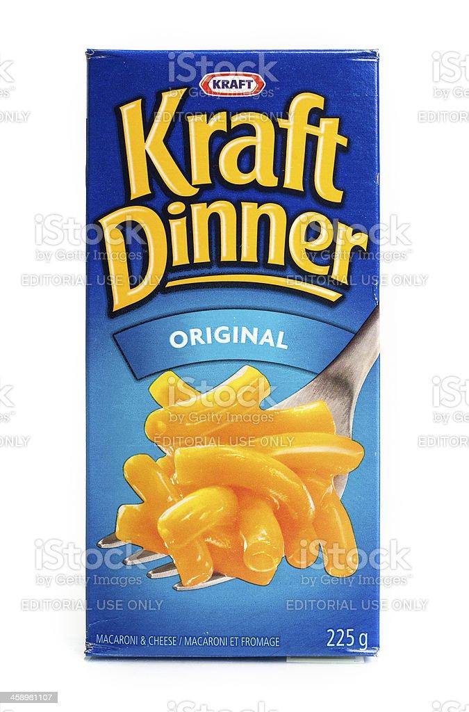 Kraft Dinner stock photo
