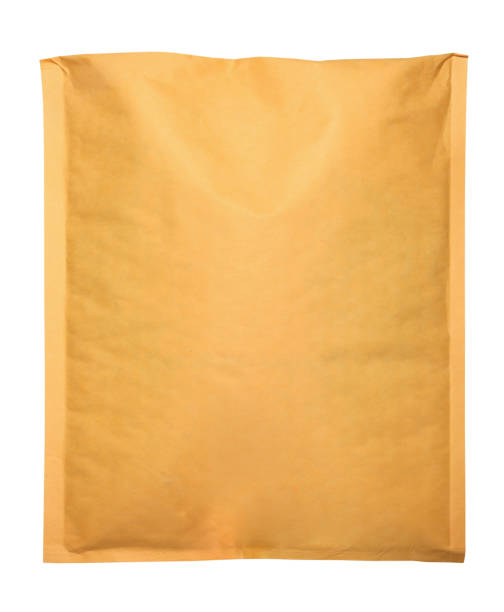 Kraft Envelope On White Background stock photo