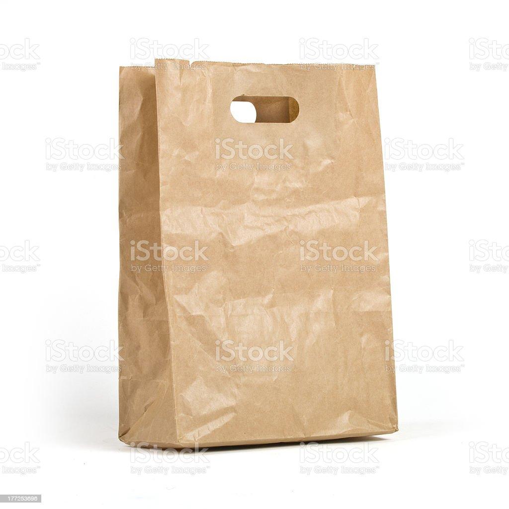 Kraft paper bag royalty-free stock photo
