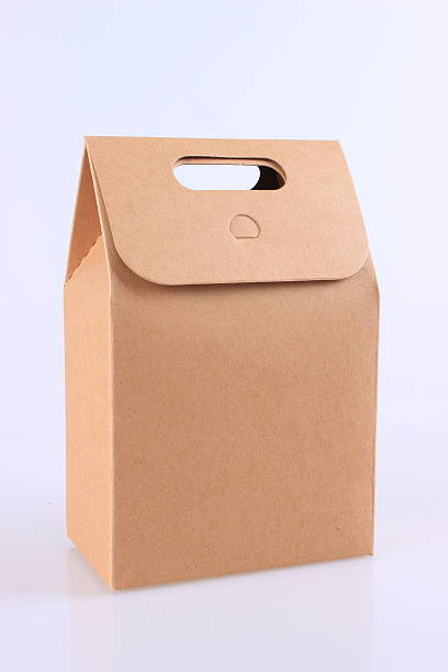 Kraft paper box stock photo