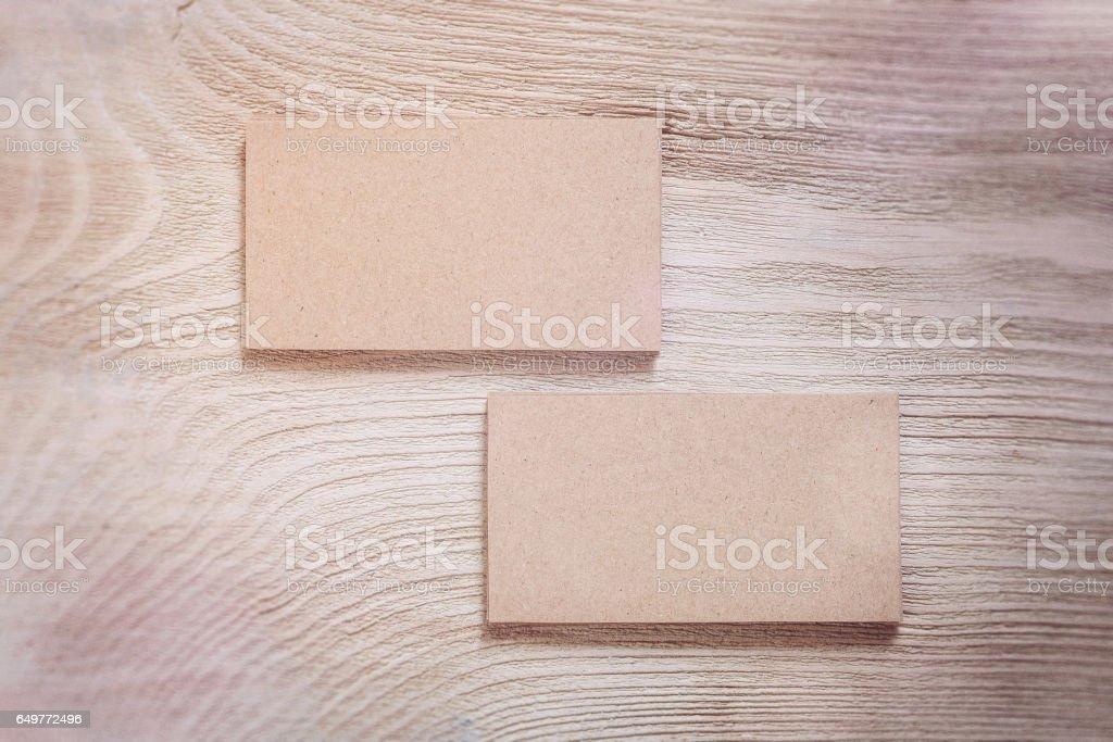 Kraft Papier Visitenkarten Vorlage Stockfoto Und Mehr Bilder