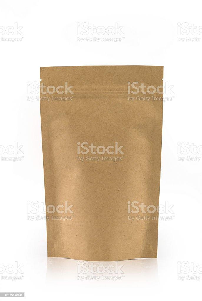 Kraft paper package stock photo