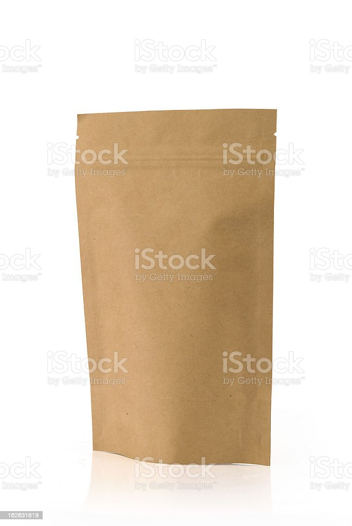 Kraft paper package royalty-free stock photo