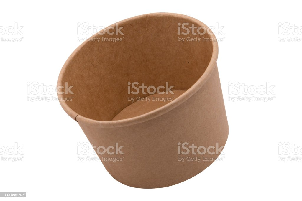 Kraft Paper Tub Bucket Container Mock Up Image Stock Photo Download Image Now Istock