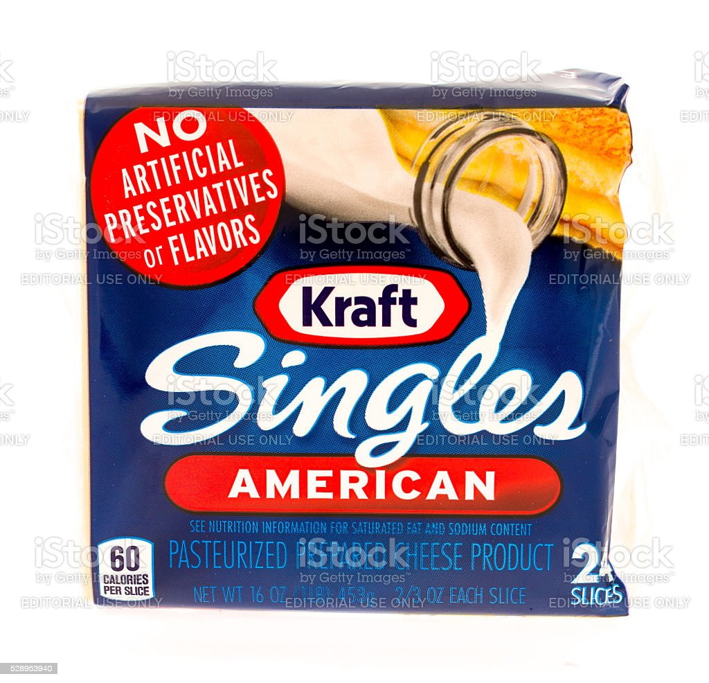 Kraft Singles Cheese stock photo
