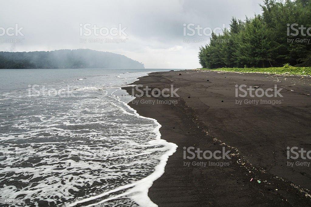 クラカトアブラックサンドビーチ...