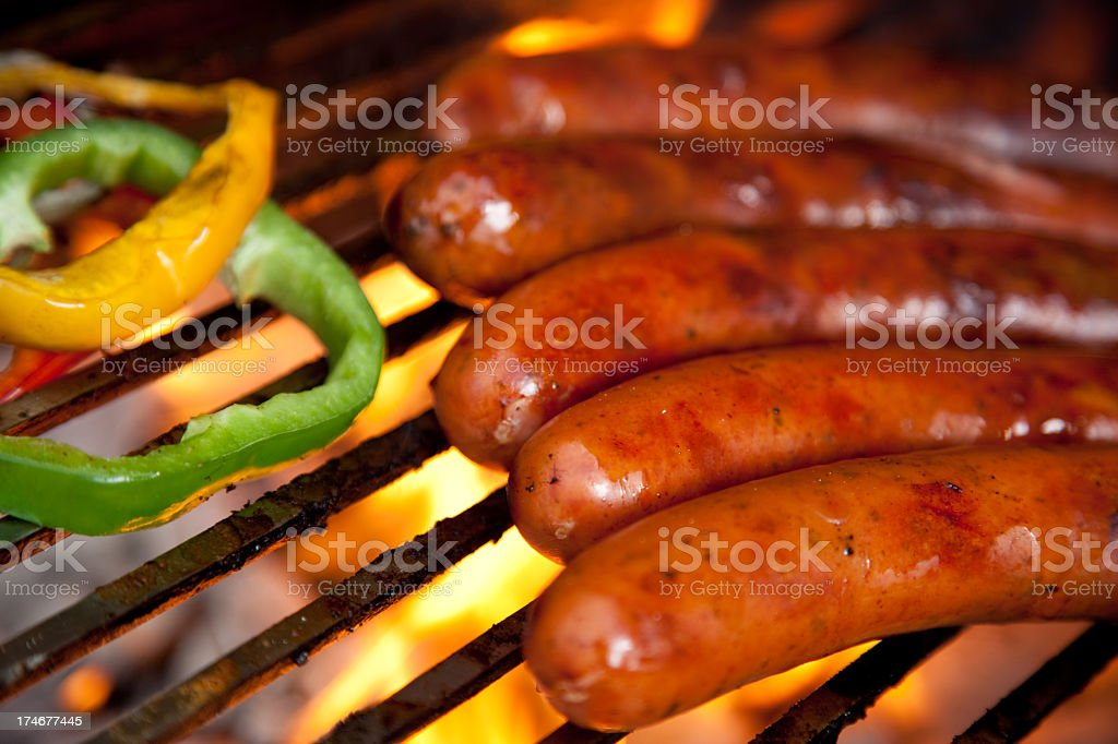 Krakauer at BBQ - Royalty-free Barbecue - Meal Stock Photo