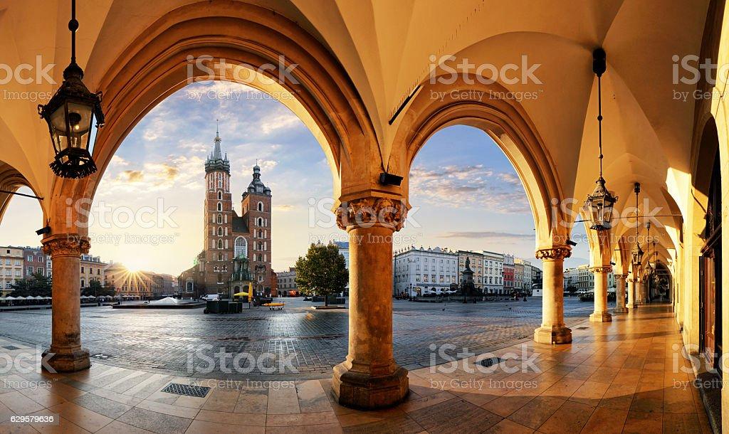 Krakow at sunrise, Poland. Krakow at sunrise, Poland. Architecture Stock Photo