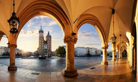 Krakow At Sunrise Poland Stock Photo - Download Image Now