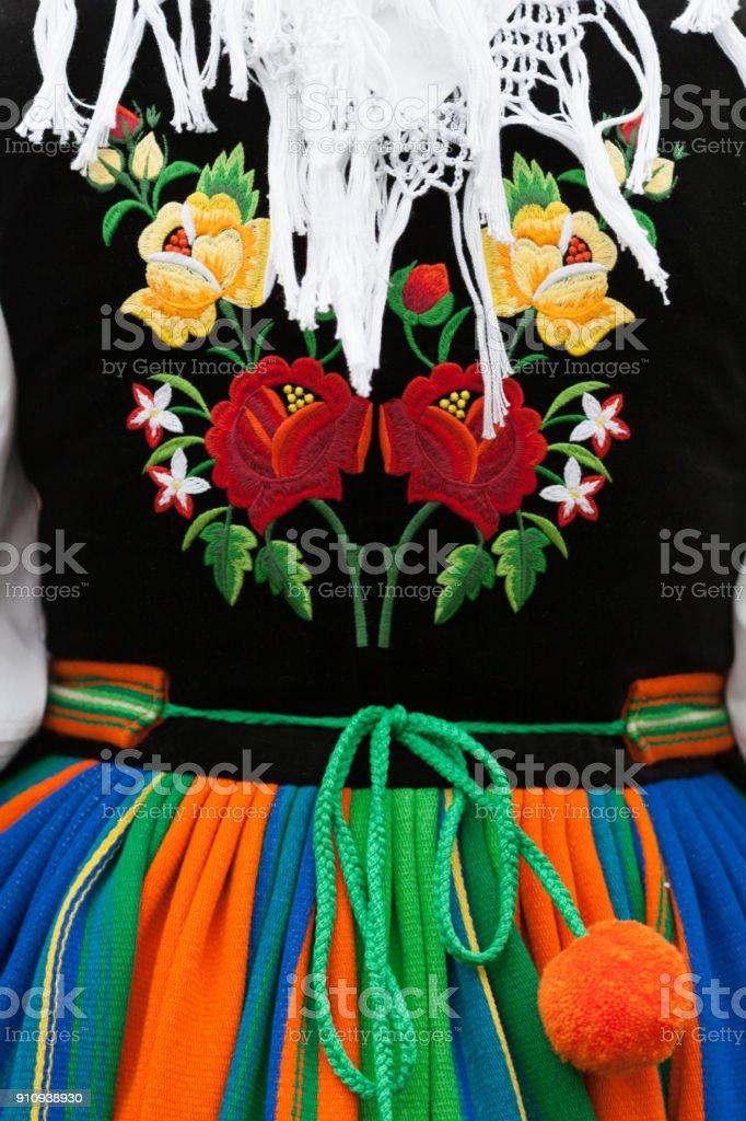 Krakow folk costume stock photo