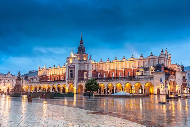 Krakow, historic center Cloth Hall on Market Square stock photo