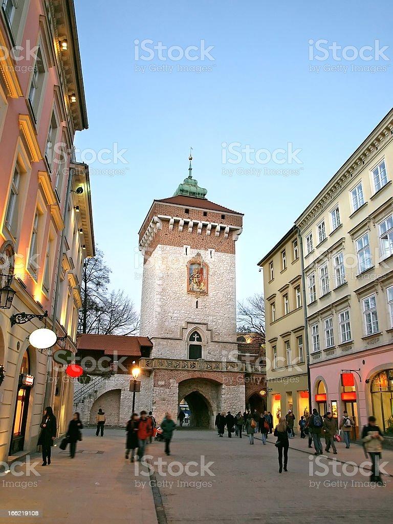 Krakow in Poland royalty-free stock photo