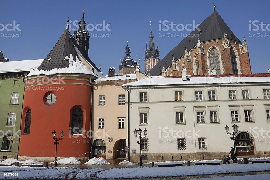 Cracovia invernale foto stock royalty-free