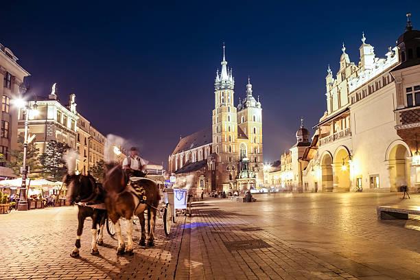 Krakow, Market Square stock photo