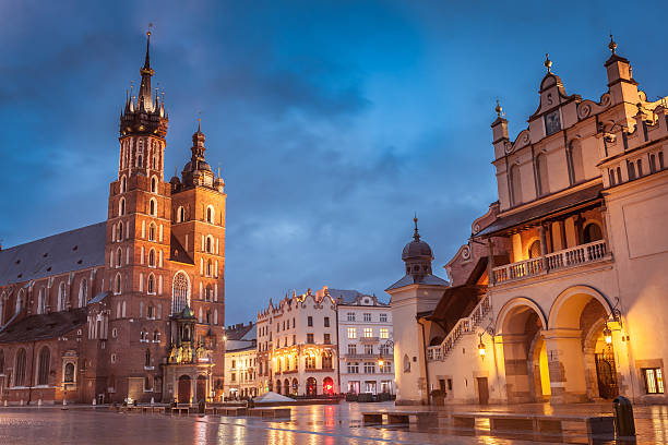 Krakow Market Square stock photo