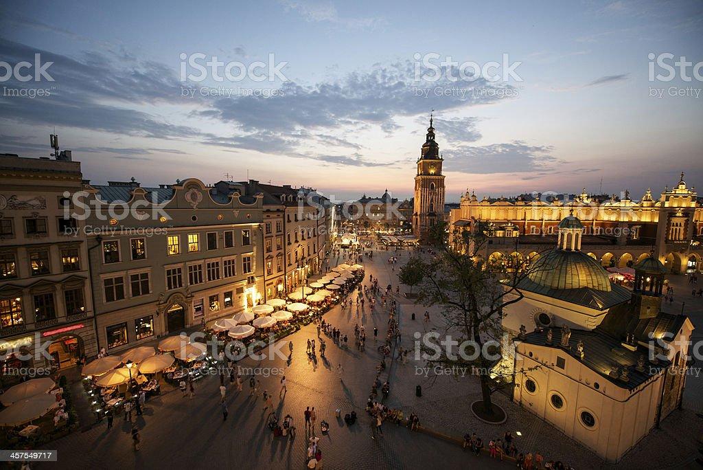 Marktplatz von Krakau, Polen – Foto