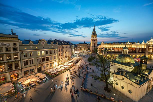 Krakow Market Square, Poland stock photo