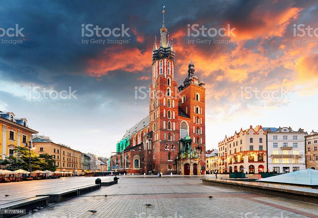 Krakow old town, Poland stock photo