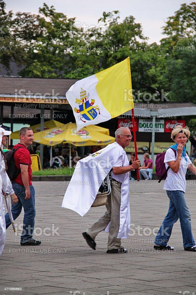 krakow pilgrimage to jasna gora sanctuary royalty-free stock photo