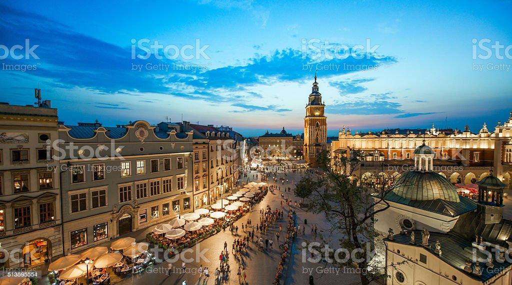 Krakau, Polen bei Nacht – Foto