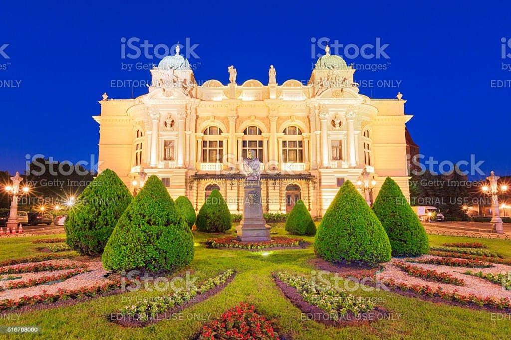 Krakow Poland Juliusz Slowacki Theater stock photo