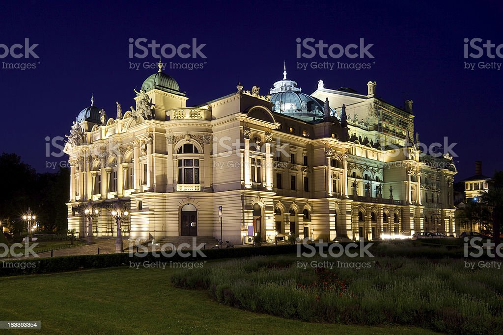 Krakow Poland Juliusz Slowacki Theatre stock photo