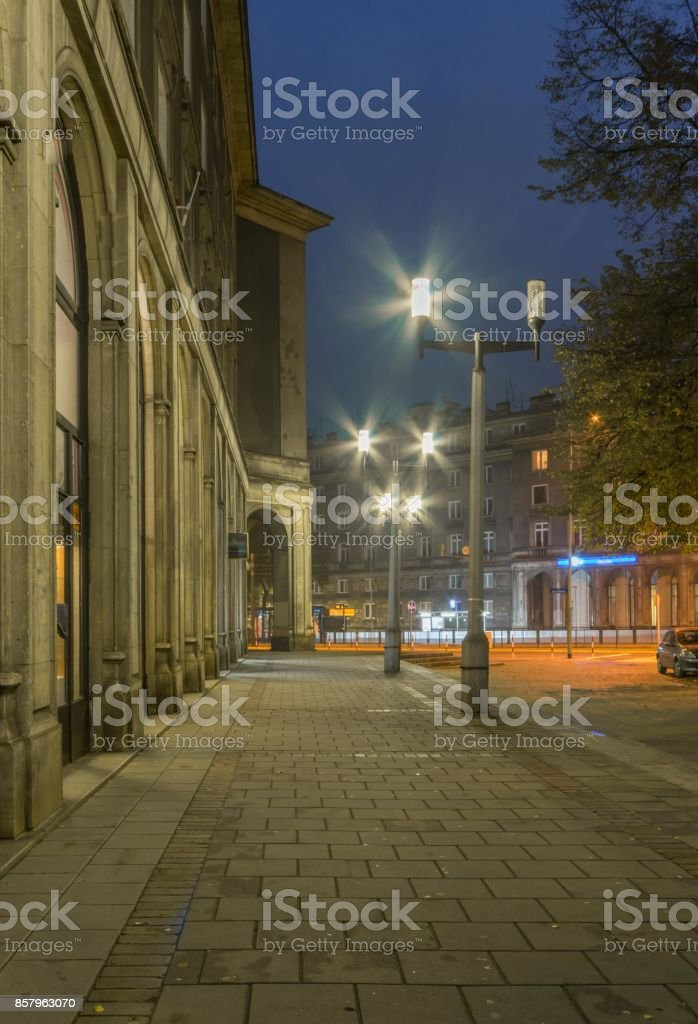 Krakow, Poland, Nowa Huta district built during communist rule, Plac Centralny (Central Square) stock photo
