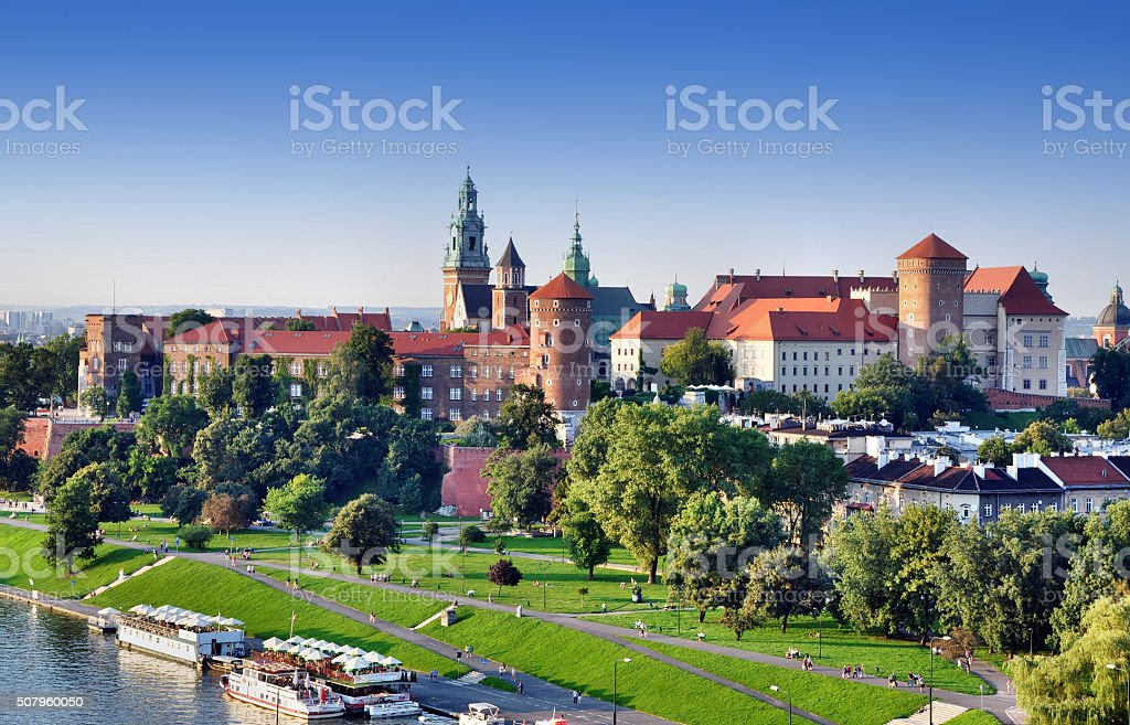 Krakow, Poland. Old city skyline stock photo