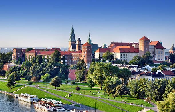 Krakow, Poland. Old city skyline stock photo