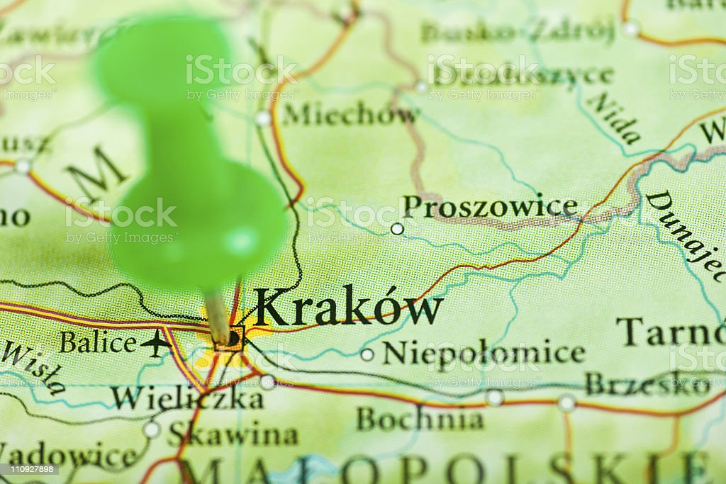 Krakow Poland Stock Photo - Download Image Now - iStock on inowroclaw poland map, poland atlas map, zambrow poland map, bialowieza forest poland map, lukow poland map, jaworzno poland map, sobibor poland map, minsk poland map, warsaw poland map, nisko poland map, auschwitz-birkenau concentration camp map, sweden map, cracow poland on a map, belchatow poland map, stawiski poland map, auschwitz poland map, lodz poland map, romania map, mazovia poland map, poland religion map,