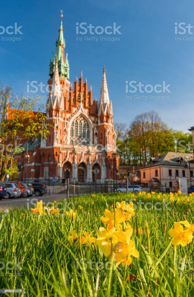 Krakau, Polen, St. Joseph-Kirche im Stadtteil Podgorze, Frühling – Foto