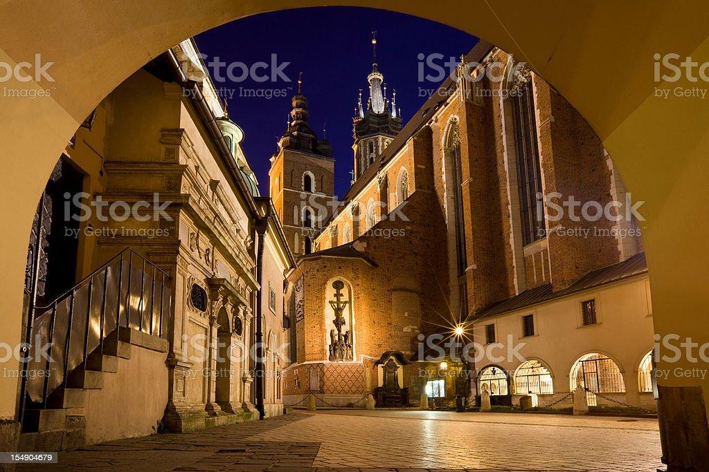Krakow Poland St. Mary's Basilica royalty-free stock photo