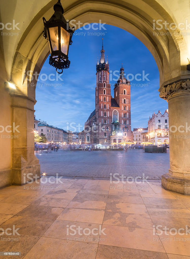 Krakow, Polen, St Mary's church aus cloth measuring tool – Foto
