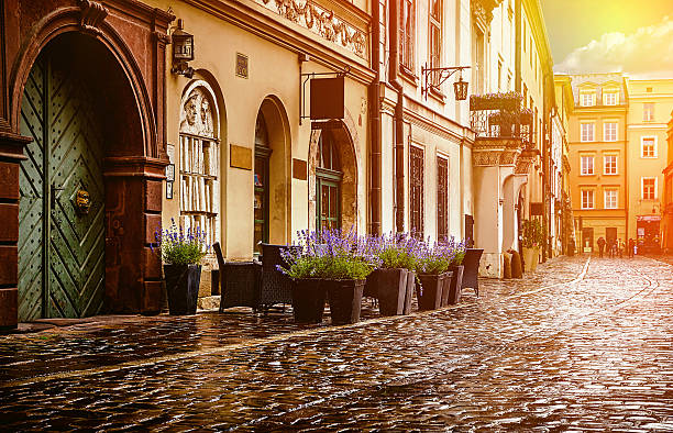Krakow - Poland's historic center stock photo