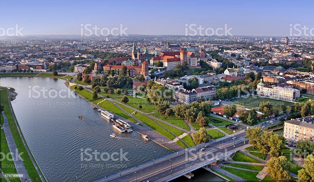 Krakow Skyline stock photo
