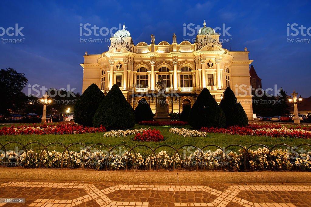 Krakow theatre stock photo