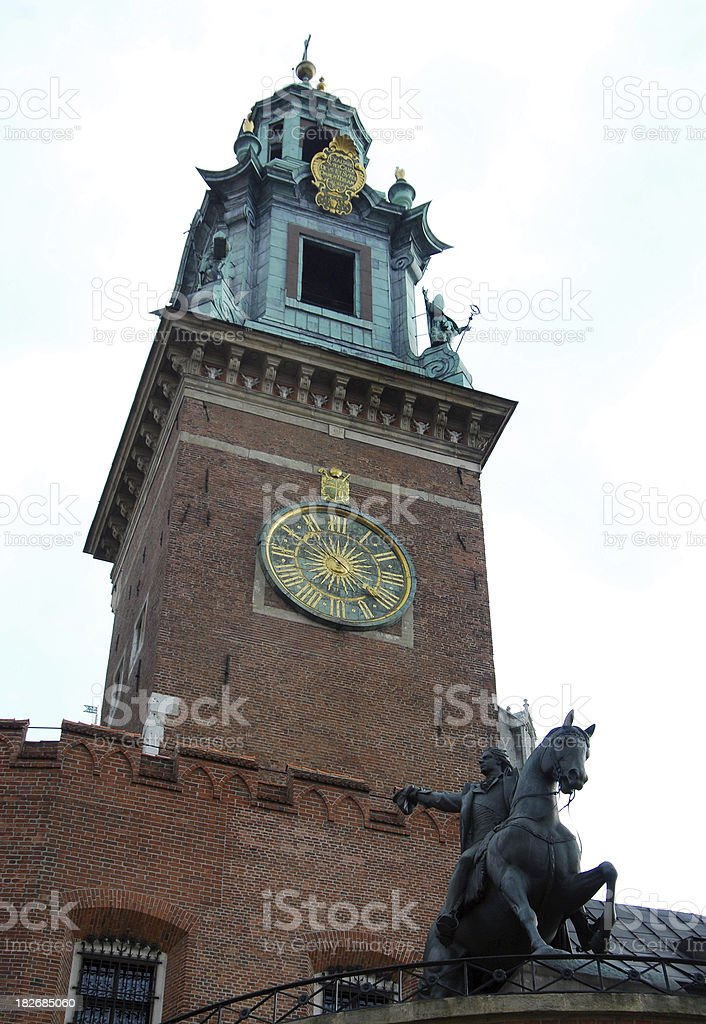 Krakow Tower stock photo