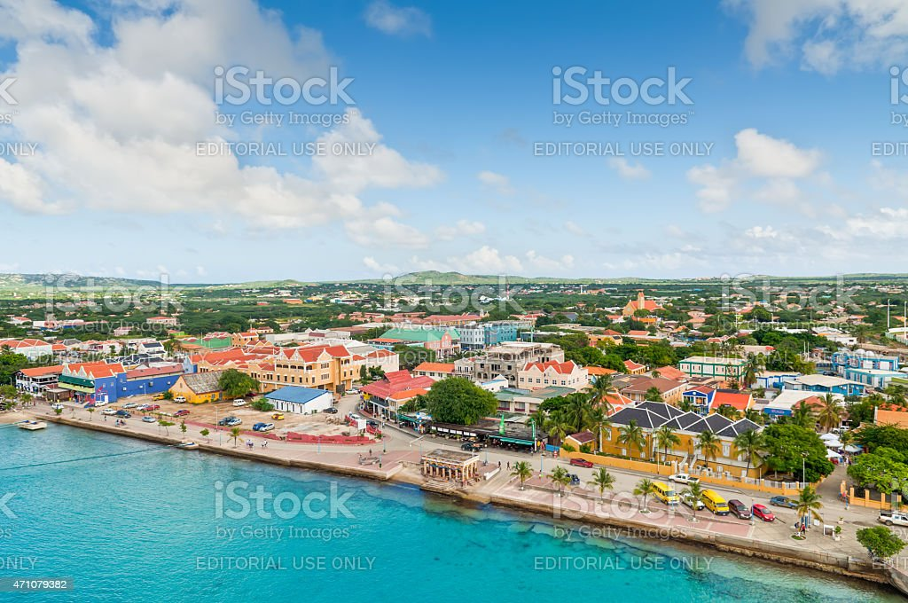 Kralendijk, Bonaire stock photo