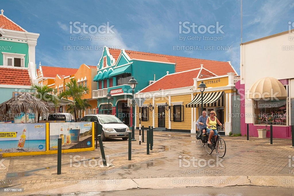 Kralendijk center, Bonaire stock photo
