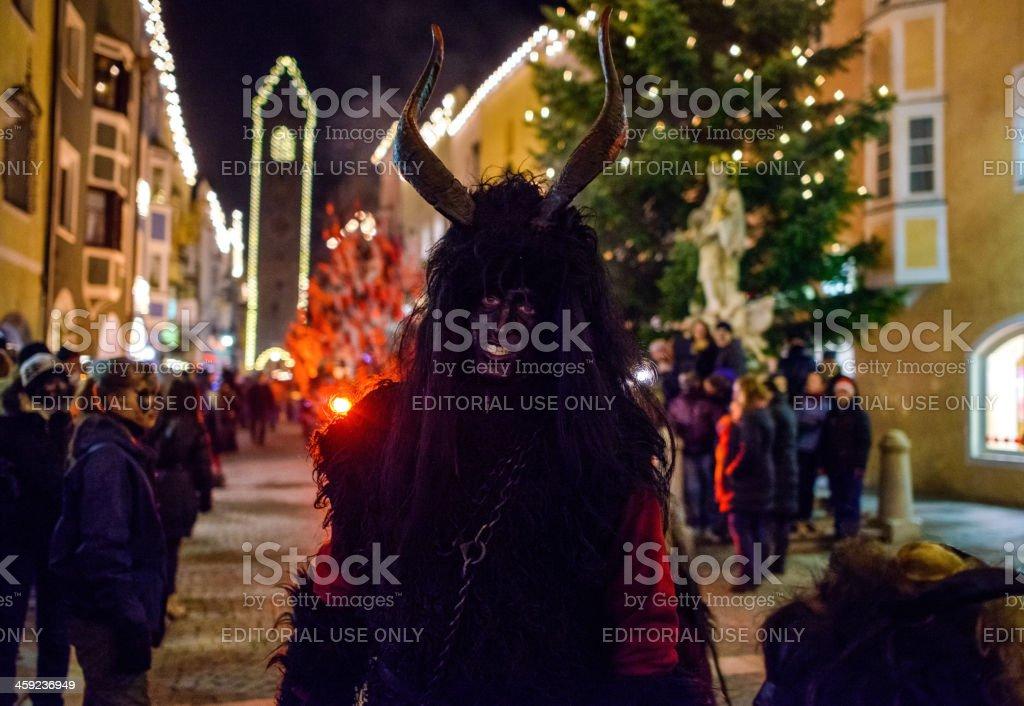 Krampus in Sterzing/Vipiteno royalty-free stock photo