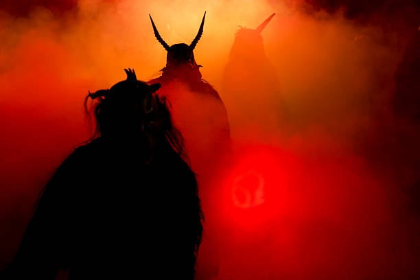 krampus parade - demon fictional character stock photos and pictures