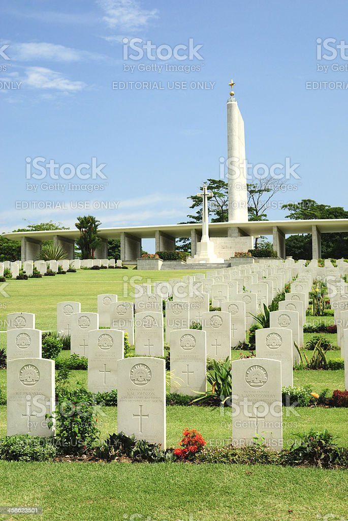Kranji War Memorial and Cemetery royalty-free stock photo