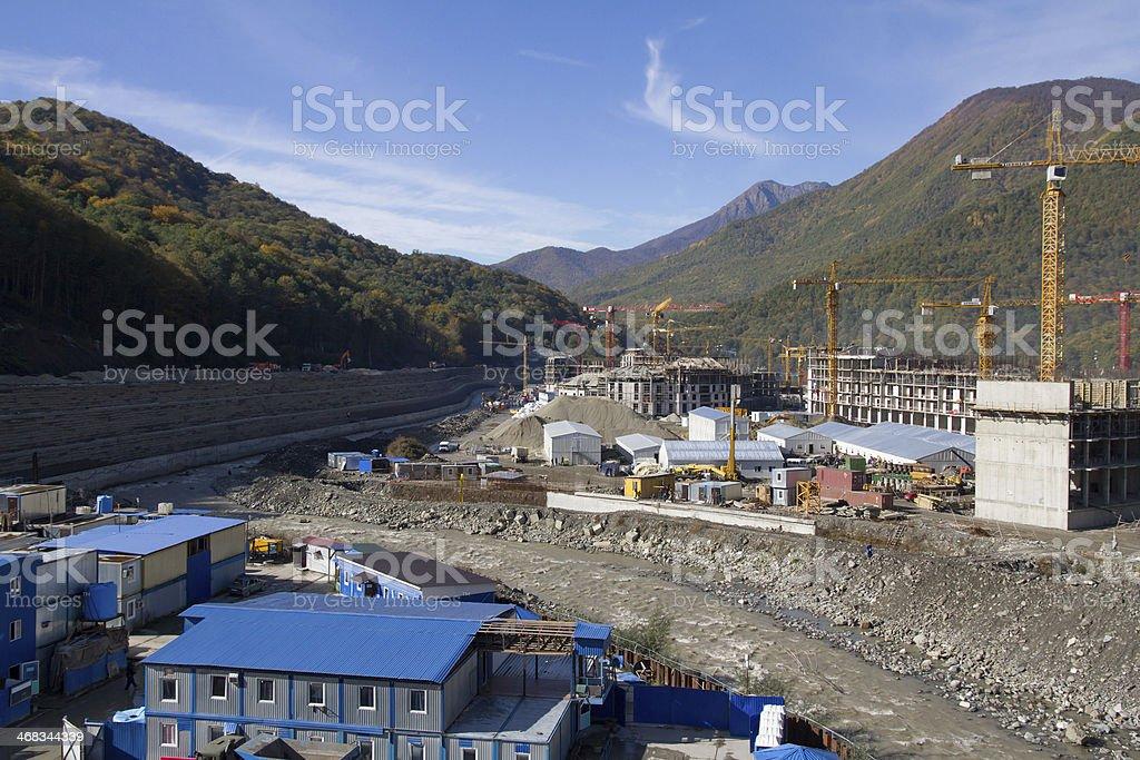 Krasnaya Polyana. Sochi. Building royalty-free stock photo