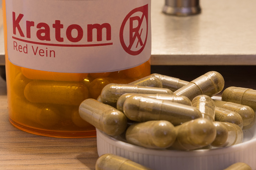 Kratom Pills On A Desk Stock Photo - Download Image Now