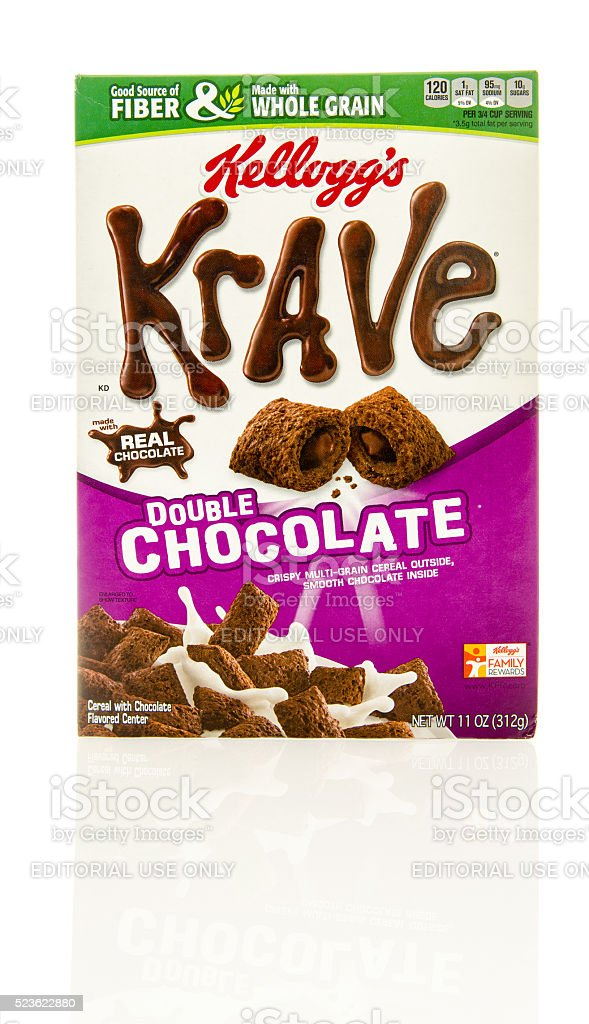 Krave Double Chocolate Cereal stock photo