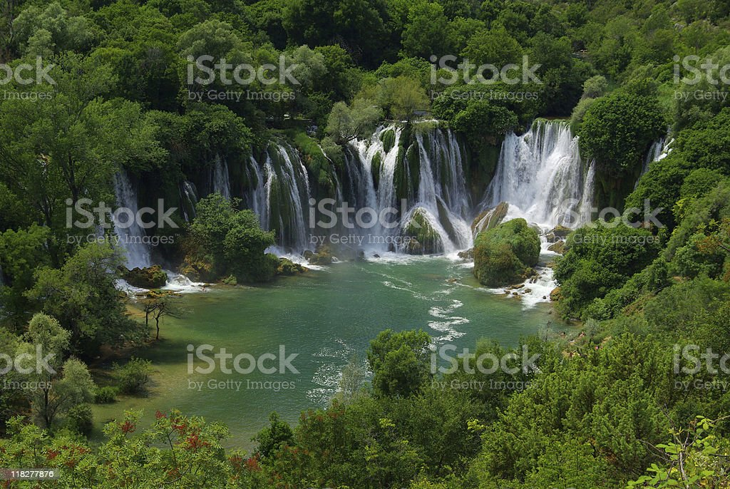 Kravica waterfall stock photo