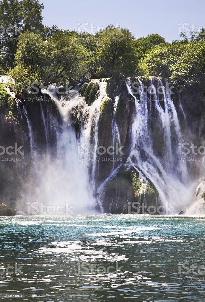 Kravice Falls in Ljubuski. Bosnia and Herzegovina stock photo