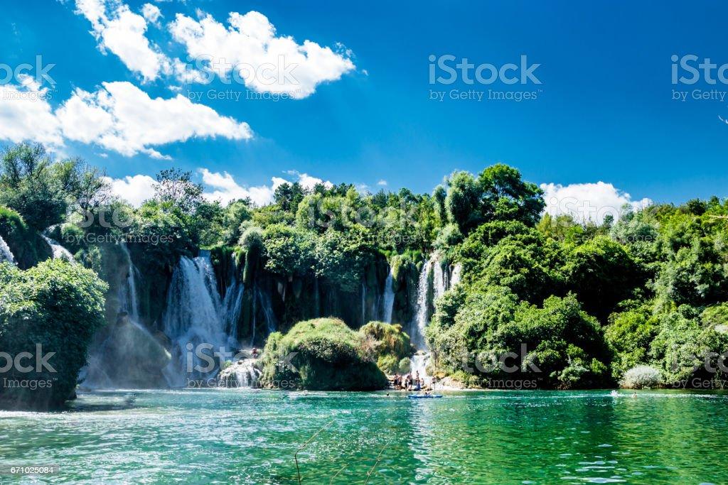 Kravice Waterfall and Trebizat River in Bosnia and Herzegovina stock photo