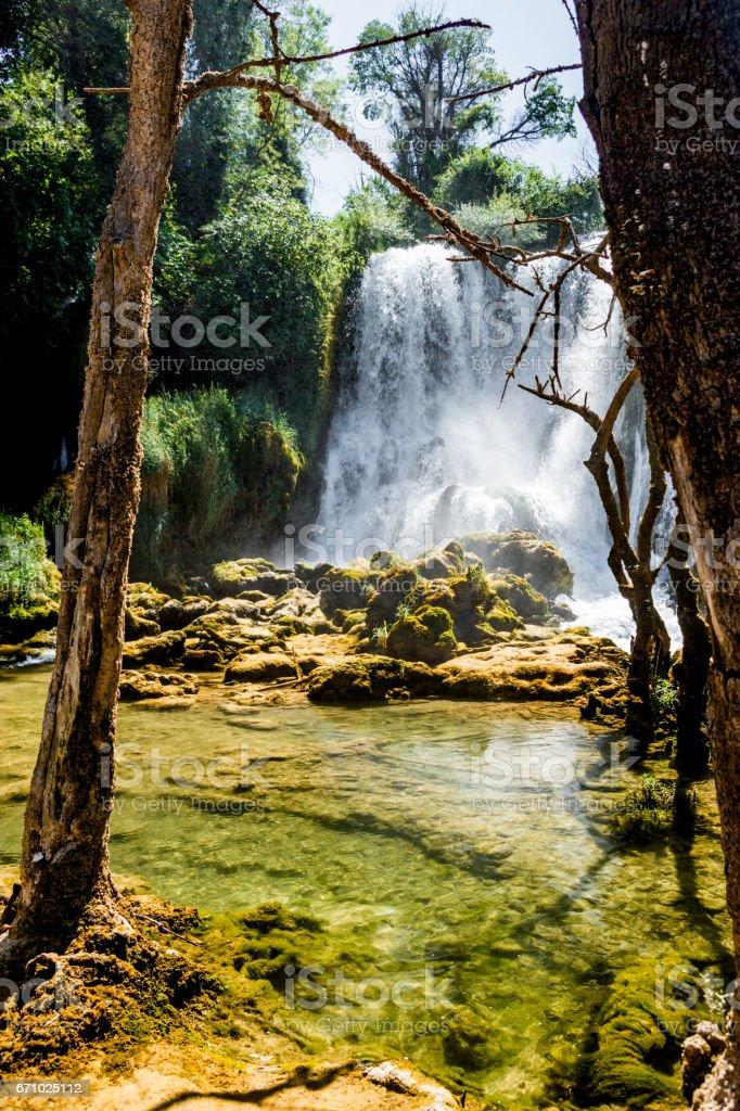 Kravice Waterfall and Trebizat River in Bosnia stock photo
